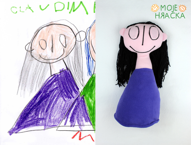Claudia, 5 years, selfportrait :)